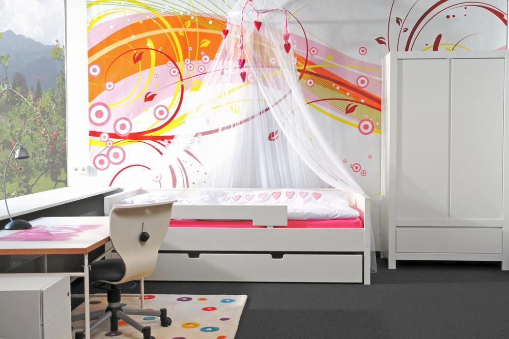 kinderbett nestbett wei kinderm bel m nchen salto nestbett wei das wei lackierte. Black Bedroom Furniture Sets. Home Design Ideas