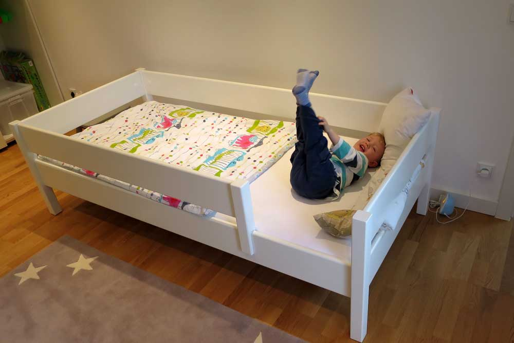 Kinderbett Kinto Basic Kindermöbel München Salto Weiß Lackiertes