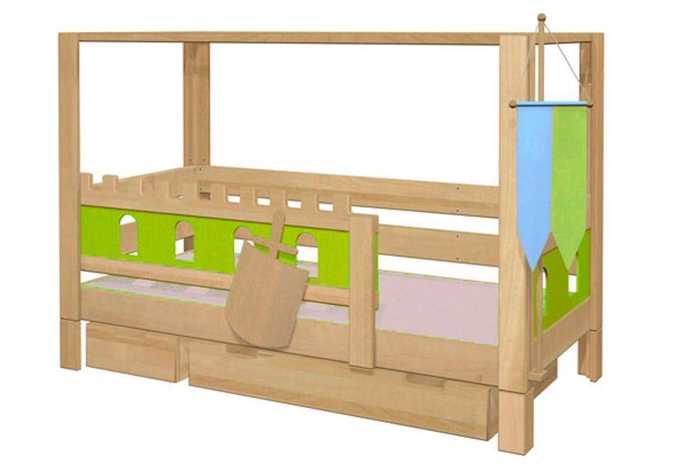 kinderbett burg deluxe kinderm bel m nchen salto ge ltes kinderbett aus massivholz mit. Black Bedroom Furniture Sets. Home Design Ideas