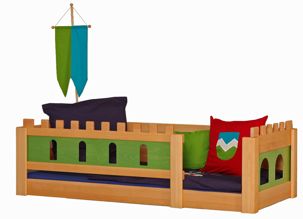 kinderbett burg deluxe kinderm bel m nchen salto ge ltes kinderbett aus massivholz mit. Black Bedroom Furniture Sets. Home Design Ideas