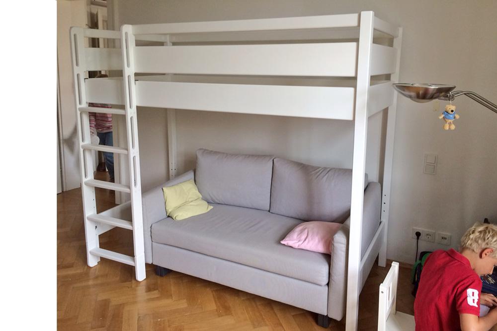 Hochbett Holz Weiß Kinder : Hochbett mitwachsend online kaufen billi bolli kindermöbel