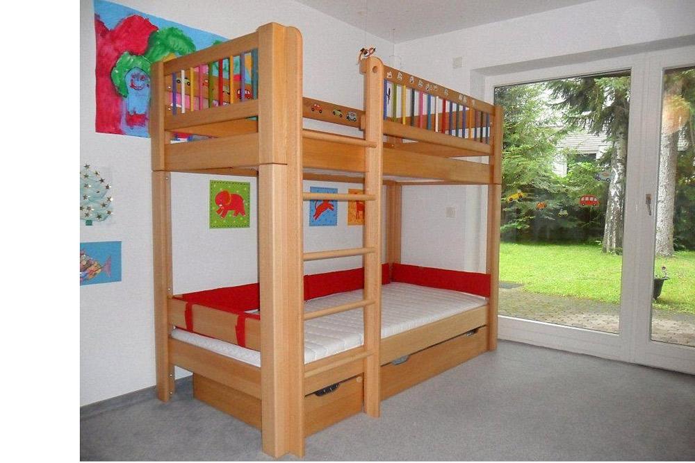 Etagenbett Kinder Massiv : Hochbett bett kinderbett kinderzimmer etagenbett kiefer massiv