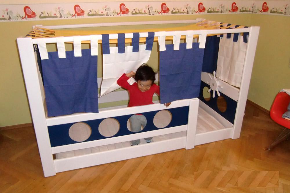 Kinderbett junge pirat  Kinderbett MARINE DeLuxe - Kindermöbel München Salto - Kinderbett ...