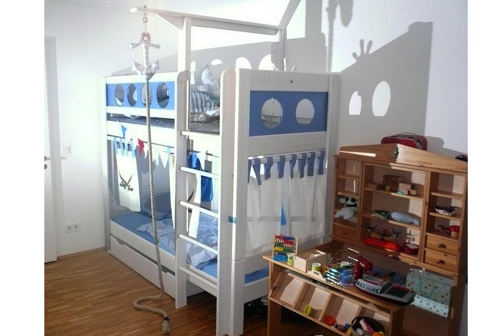 Etagenbett Pirat : Hochbett pirat deluxe etagenbett kindermöbel münchen salto
