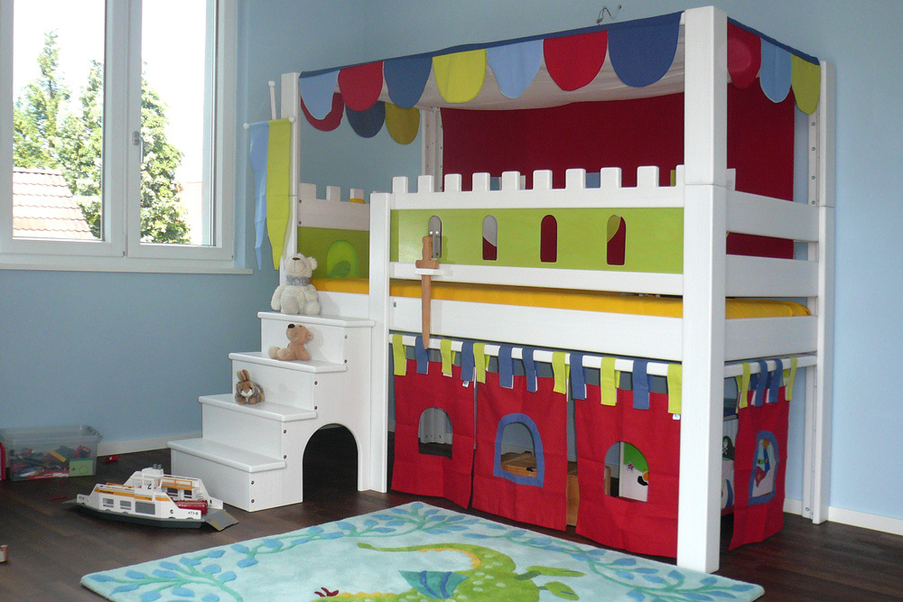 hochbett burg deluxe kinderm bel m nchen salto. Black Bedroom Furniture Sets. Home Design Ideas