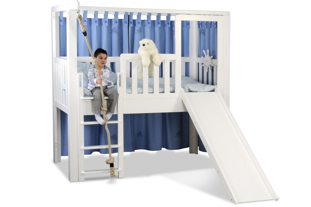 listo flex als abenteuerbett mit rutsche weiss lackiert kinderm bel m nchen salto spielbett. Black Bedroom Furniture Sets. Home Design Ideas