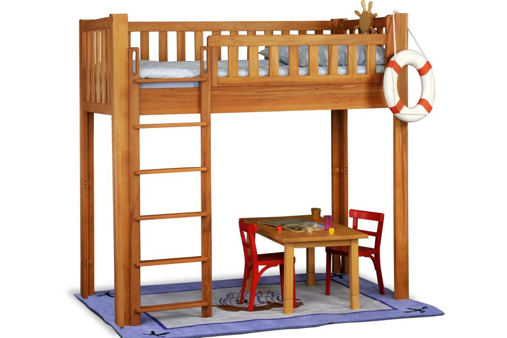 mitwachsendes bett listo flex buche hochbett. Black Bedroom Furniture Sets. Home Design Ideas