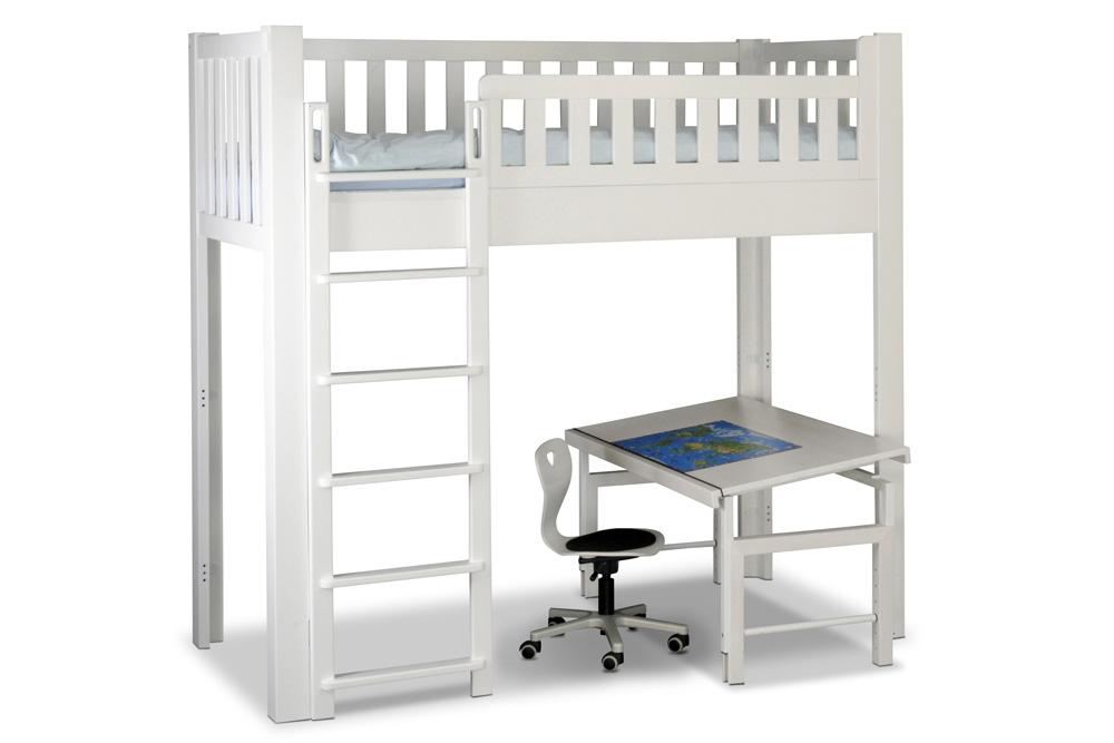hochbett listo wei lackiert kinderm bel m nchen salto. Black Bedroom Furniture Sets. Home Design Ideas
