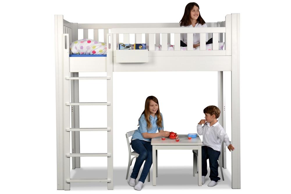 mitwachsendes bett listo flex weiss hochbett kinderm bel m nchen salto weiss lackiertes. Black Bedroom Furniture Sets. Home Design Ideas