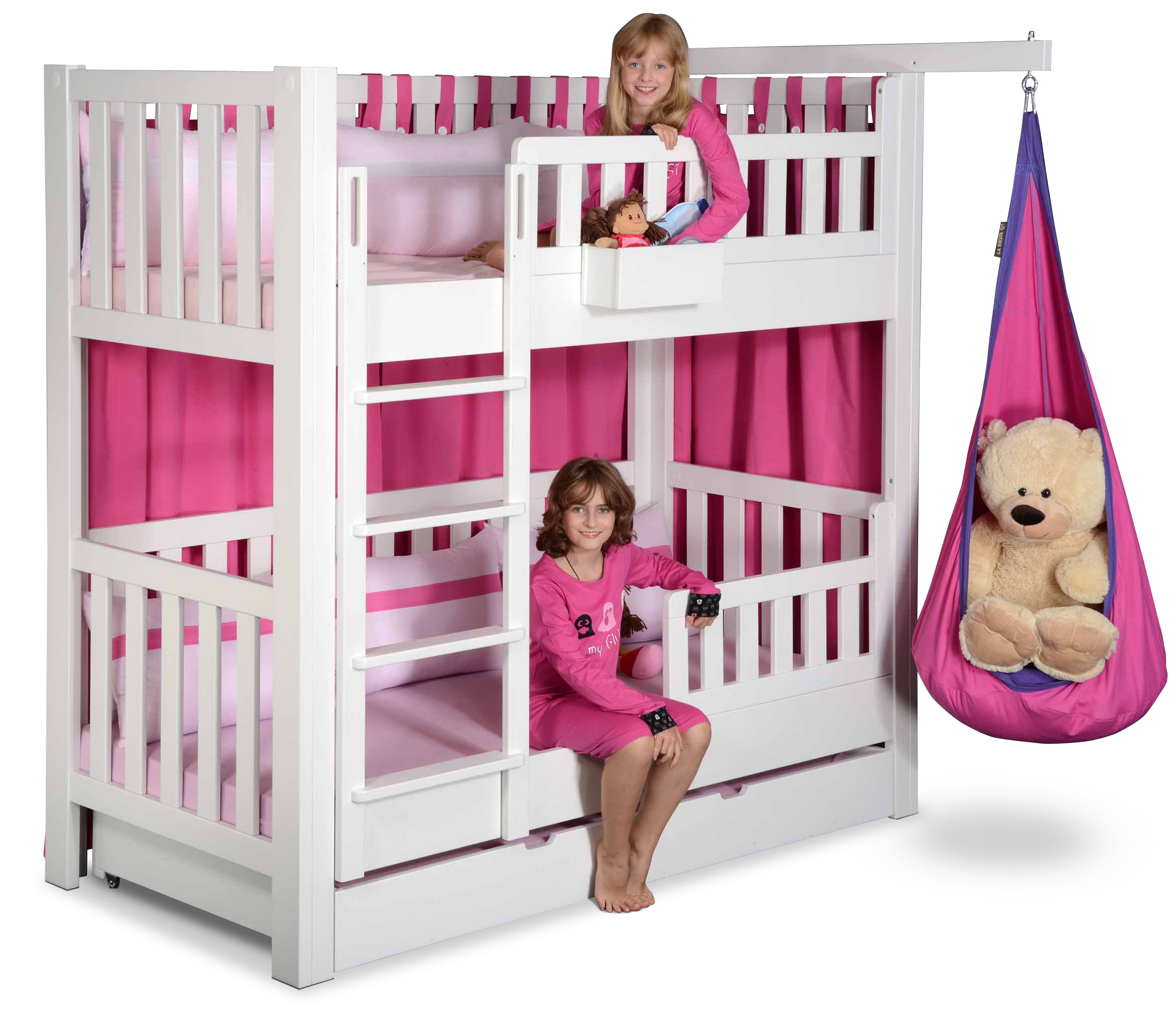 etagenbett listo aus weiss lackiertem buchenholz kinderm bel m nchen salto. Black Bedroom Furniture Sets. Home Design Ideas