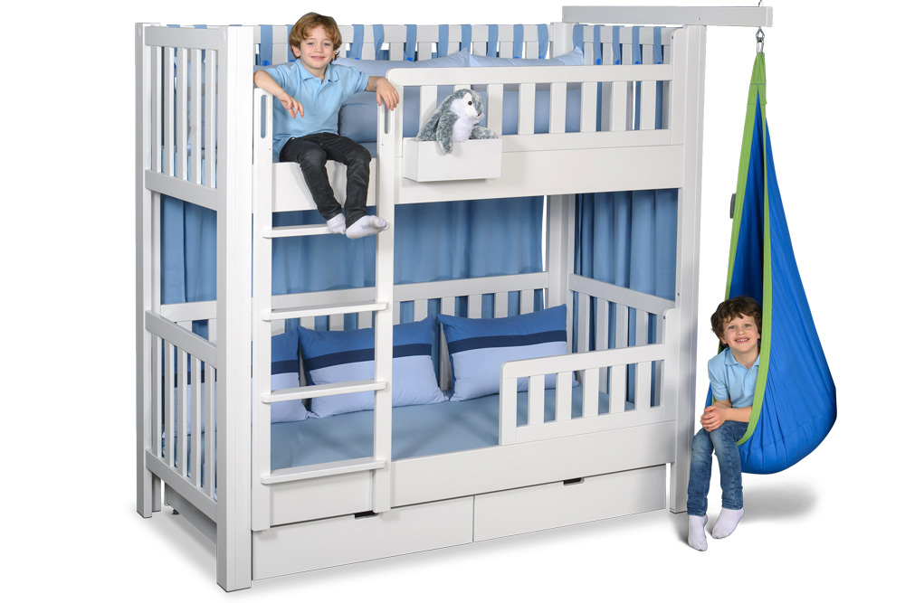 etagenbett listo aus weiss lackiertem buchenholz kinderm bel m nchen salto. Black Bedroom Furniture Sets. Home Design Ideas