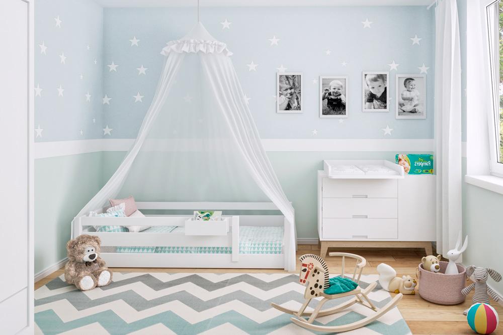 Kinderbett Picco In 2 Größen 180x80 Oder 200x90 Kindermöbel