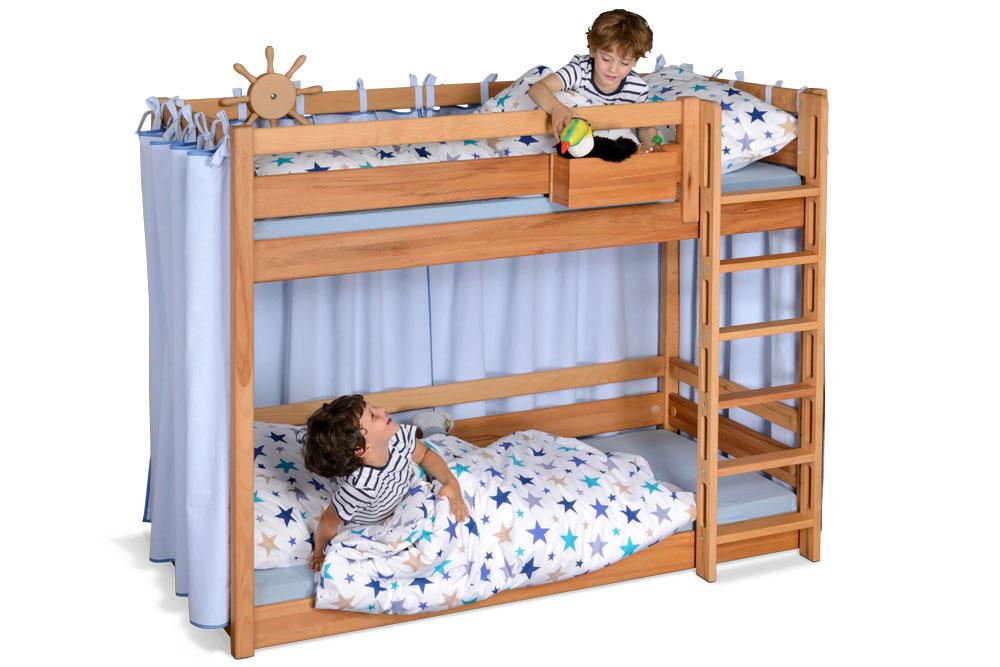 Etagenbett Für Kleine Zimmer : Etagenbett picco 180 aus geöltem buchenholz kindermöbel münchen